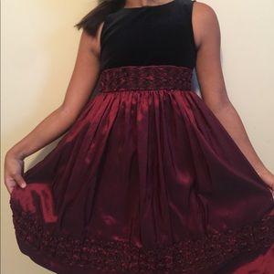Christmas velvet dress